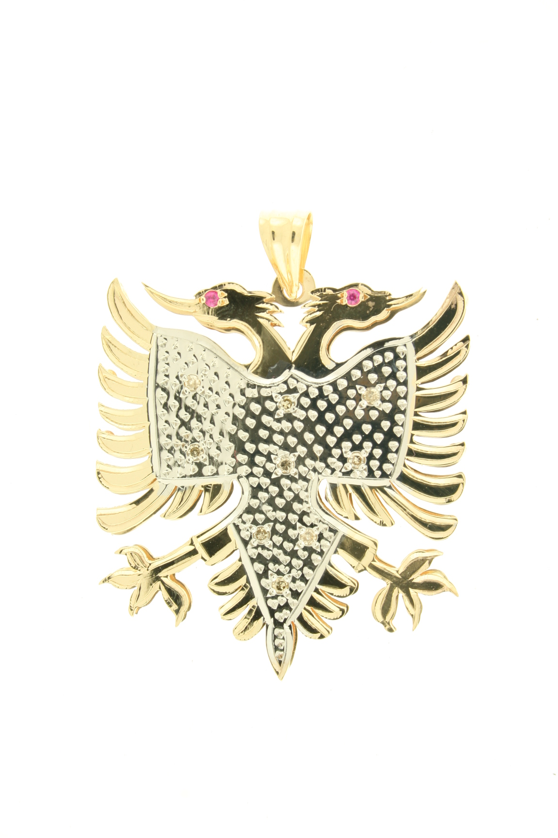 eagle p yellow diamond s ebay cut gold pendant